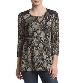 Jones New York® Drape Print Top