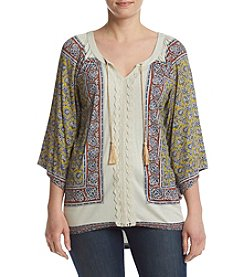 Oneworld® Raglan Peasant Top