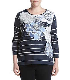 Alfred Dunner® Plus Size Floral Uptown Girl Knit Top