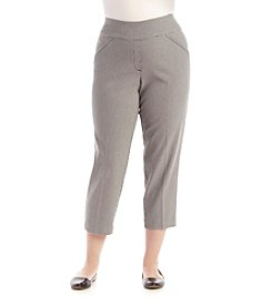 Alfred Dunner® Plus Size City Life Proportioned Short Check Pants