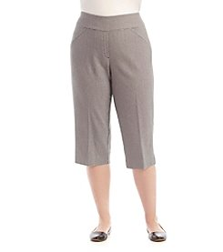 Alfred Dunner® Plus Size City Life Check Capri Pants