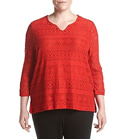 Alfred Dunner® Plus Size Uptown Girl Knit Tunic Top