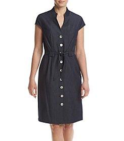 Connected® Belted Denim Dress