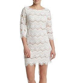Jessica Howard® Lace Scallop Dress