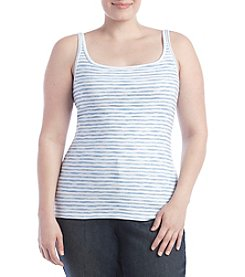 Ruff Hewn Plus Size Broken Striped Cami