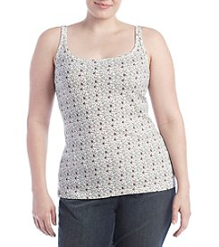 Ruff Hewn Plus Size Scroll Floral Cami