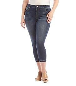 Ruff Hewn Plus Size Release Hem Cropped Jeans