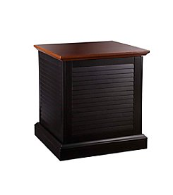 Southern Enterprises Abram Louvered Trunk End Table