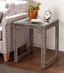 Southern Enterprises Akola Woven End Table