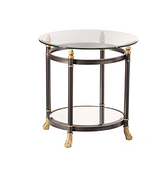 Southern Enterprises Ava Mirrored End Table