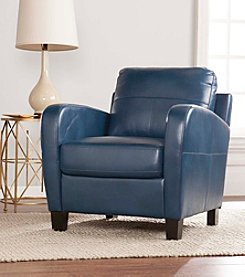 Southern Enterprises Bolivar Faux Leather Lounge Chair