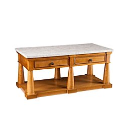 Southern Enterprises Grandview Faux Marble Cocktail Table