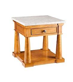 Southern Enterprises Grandview Faux Marble End Table