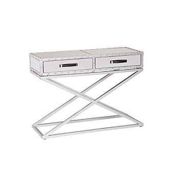 lazio industrial mirrored console table