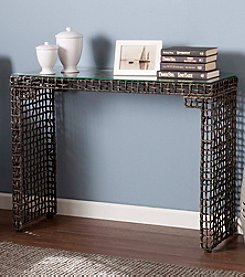 Southern Enterprises Loni Woven Console Table