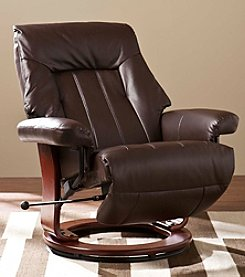 Southern Enterprises Norland Recliner with Hidden Ottoman