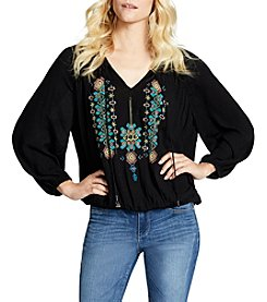 Jessica Simpson Embroidered Peasant Top