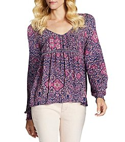 Jessica Simpson Lace-Up Back Peasant Top