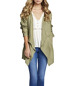 Jessica Simpson Embroidered Drape Jacket