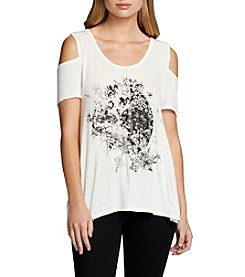 Jessica Simpson Cold-Shoulder Graphic Tee