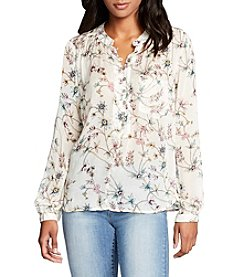 William Rast® High-Low Floral Popover Top