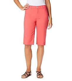 Bandolino® Ivette Twill Bermuda Shorts