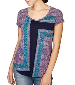 Lucky Brand® Mixed Rug Tee