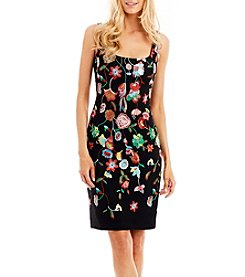 Nicole Miller New York™ Floral Embroidered Shift Dress