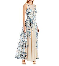 Nicole Miller New York® Long Floral Gown