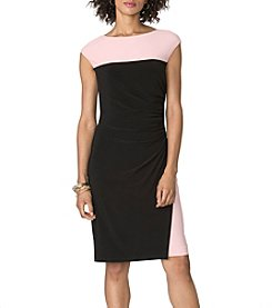 Chaps® Colorblock Matte Jersey Dress