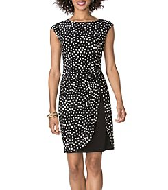 Chaps® Dotted Matte Jersey Dress