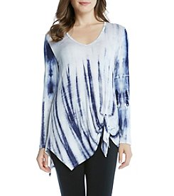 Karen Kane® Asymmetric Side Tie Top