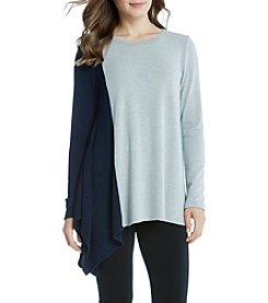 Karen Kane® Asymmetric Colorblock Top