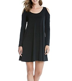 Karen Kane® Cold Shoulder Trapeze Dress