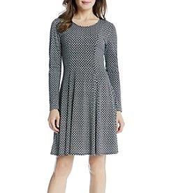 Karen Kane® Diamond Falre Godet Dress