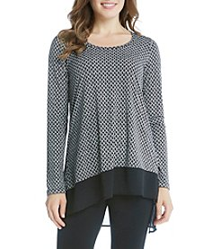 Karen Kane® Diamond Asymmetric Top