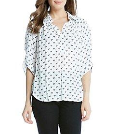 Karen Kane® Heart Print Shirt