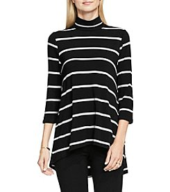 Vince Camuto® Turtleneck Stripe Duet Top