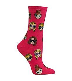 Hot Sox® Chic Girls In Shades Sock Crew Socks