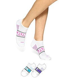 HUE® 3-Pack Air Cushion No-Show 3D Sole Socks
