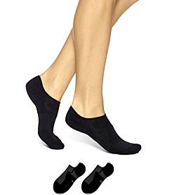 HUE® 3-Pack Air Sleek Liner With Cushion Socks