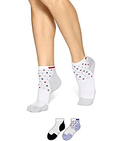 HUE® Air Sleek Quarter Top With Cushion Socks