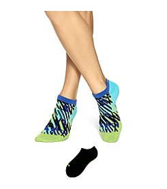 HUE® Plaid No Show 2-Pack Socks