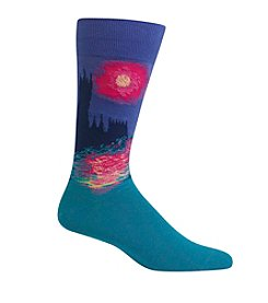 Hot Sox® Men's Parliament At Sunset Crew Socks