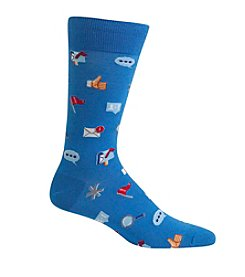 Hot Sox® Men's Social Media Crew Socks