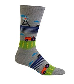 Hot Sox® Men's Tractor Windmill Scene