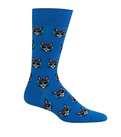 Hot Sox® Men's Cool Cat Crew Socks