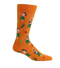 Hot Sox® Men's Hula Girls Crew Socks
