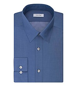 Calvin Klein Men's Cadet Blue Solid Dress Shirts