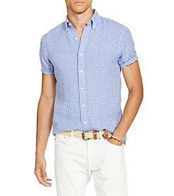 Polo Ralph Lauren® Men's Linen Short Sleeve Button Down Shirt